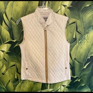 Johnston & Murphy ivory quilted vest